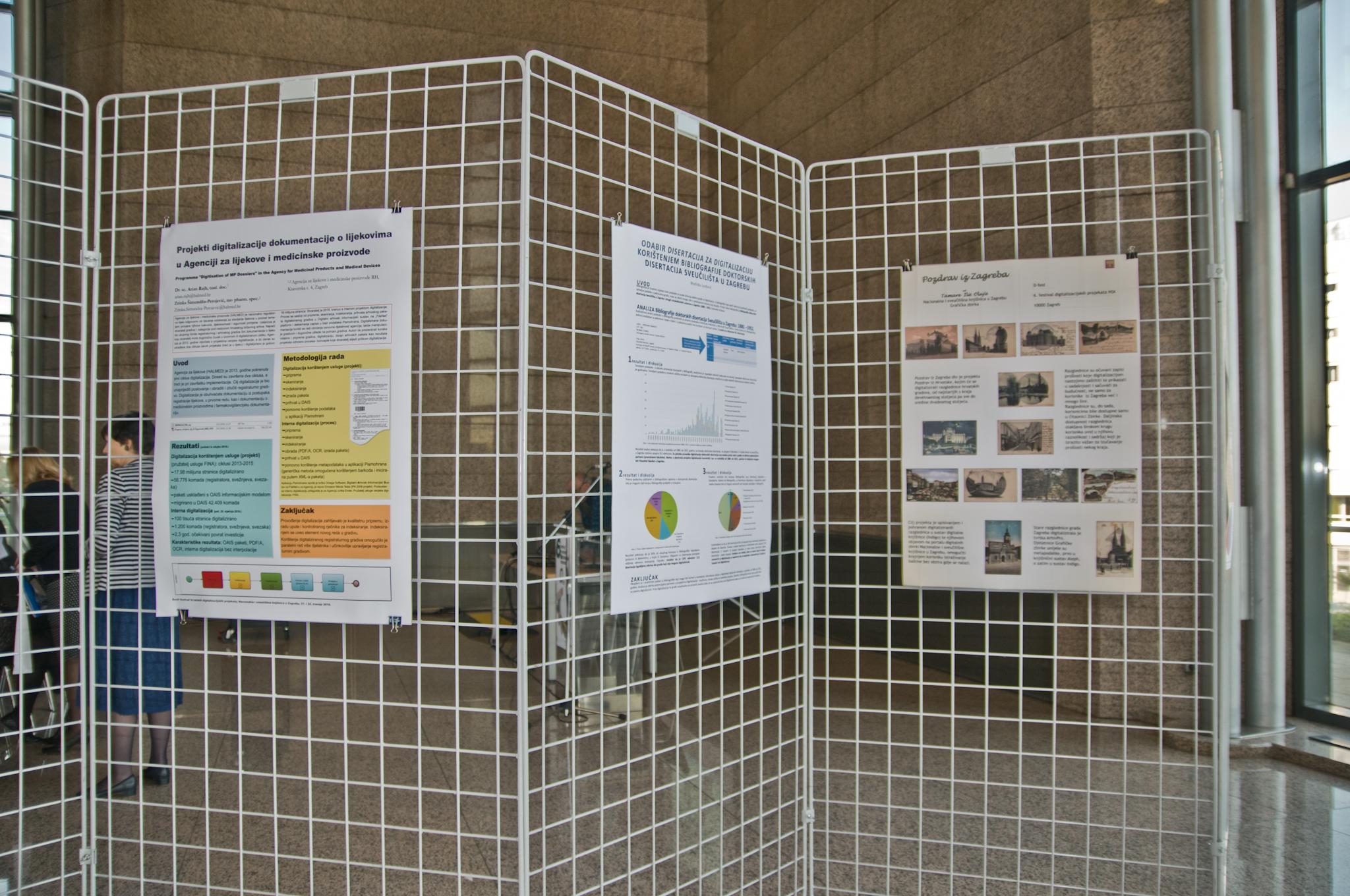 Posterska izlaganja 6. festivala hrvatskih digitalizacijskih projekata